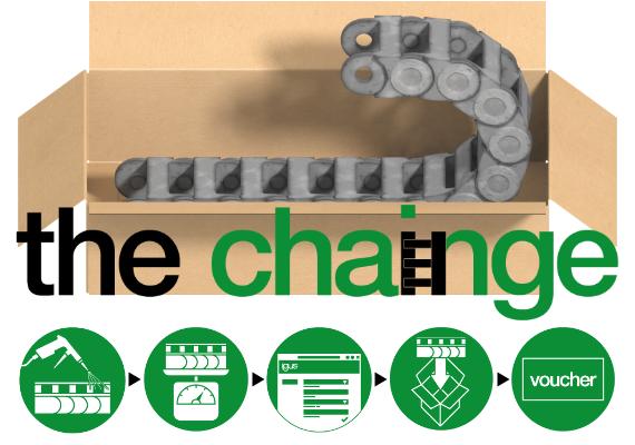 igus® 易格斯拖鏈回收 ''chainge'' 改變計畫
